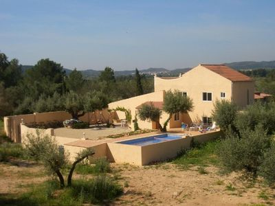 Photo for Peaceful,spacious villa, 220m2. 5 bedr.3 bathr.& large pool. Sleeps 6-13 persons
