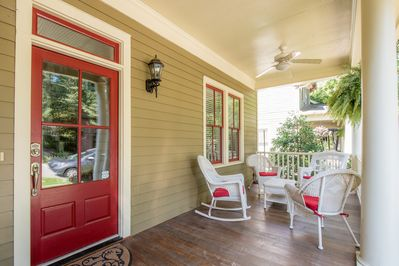Enjoy large front porch for gathering friends & family.