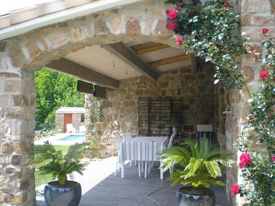 Photo for charming new stone house with private pool in greenery / PROMO