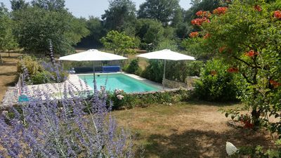 Photo for house, garden {4500 m2], heated pool, terrace, 180m2, fitted kitchen, 4 bedrooms