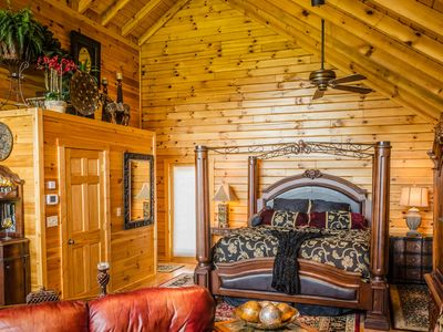 Photo for ✧Royale Cabin- KING bed, hot tub, NO CLEANING FEE