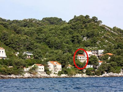 Photo for Three bedroom apartment with terrace and sea view Sobra, Mljet (A-4908-a)