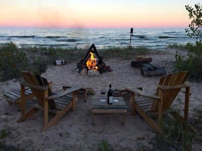 Photo for Romantic getaway or cozy and relaxing vacation right on Lake Michigan!