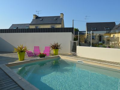 Photo for LAN01 House with heated pool, near the beaches of Abers