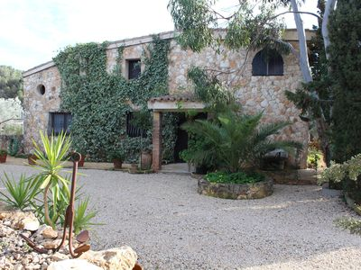 Photo for Large house of 220 m2 in the middle of nature with private pool and barbecue.