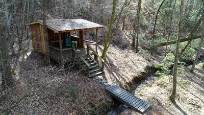 Your Toccoa River Cove! 12 acre private campsite with Adirondack shelter