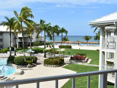 Photo for Ocean view, swimming pools,  onsite hotel/resort amenities on Seven Mile Beach.