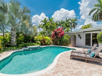 Photo for Welcome to the Flirty Flamingo, Newly Listed 3 Bed 2 Bath Tropical Pool Home!