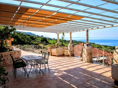 Photo for Villa near Orebic with swimming pool overlooking Peljesac channel