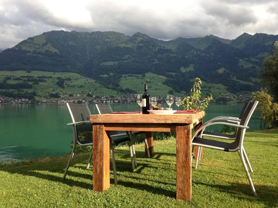 Photo for One of the most popular rentable objects in Switzerland, directly on Lake Sarnen