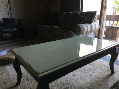 new coffee table with glass top