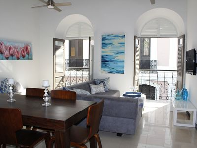 Photo for Azul Adoquín - Luxurious and cozy historic apartment in Old San Juan