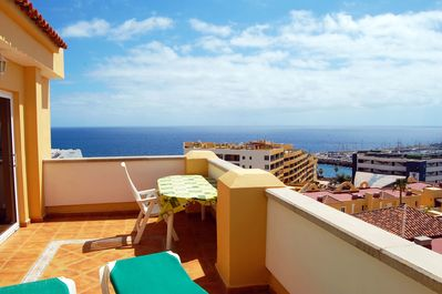 Huge sunny terrace with wonderful views