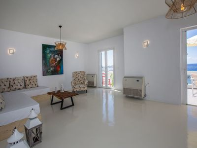 Photo for 2 bedroom apartment with terrace in Tinos Chora