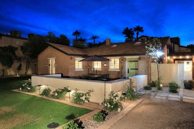 Casita Front with Private Patio, Fire pit and BBQ
