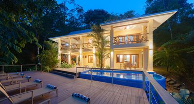 Photo for Partial Ocean View, Private Pool Villa Surrounded by Rain Forest and Waterfalls