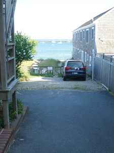 Out the door, turn left down the driveway and you're at the beach in seconds.