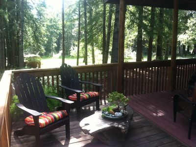 Photo for Large home on private 14 acre redwood meadow