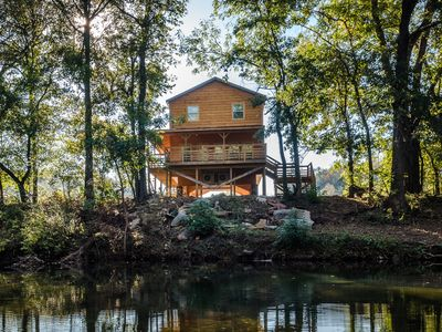 Photo for The Highwater Cabin! Right on the banks of the Little Buffalo River!