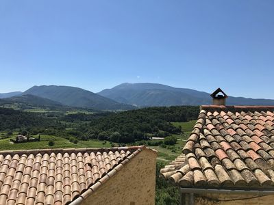 Photo for Very pretty village house with exceptional views of Mt Ventoux
