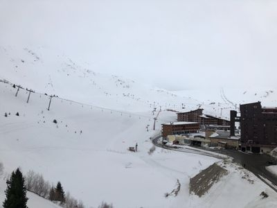Photo for Apartment overlooking the resort and Mont Blanc - Arcs 2000