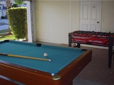 Games room at the villa
