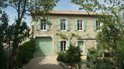 Photo for Gîte with fabulous terrace, between Carcassonne and the sea, sleeps 6.