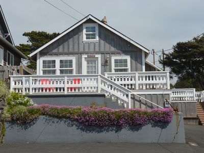 Photo for Charming Cozy Cottage w/Ocean View!-Just steps to beach! w/ 2 Lrg decks & WiFi!!