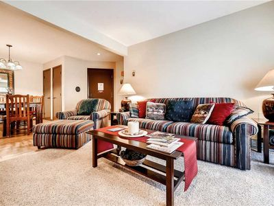 Photo for Beautiful Condo, Private Balcony & Cozy Fireplace!