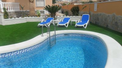 Photo for DETACHED VILLA WITH POOL, AIR CON , ENGLISH TV. and Wi -Fi.