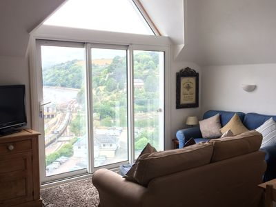 Photo for Elevated apartment  with Superb Views up the beautiful River Dart. Sleeps 6
