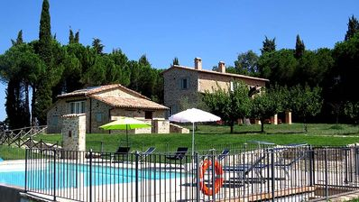 Photo for Detached villa with private and fenced pool. Quiet area near Todi