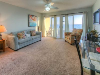 Photo for Beautiful Gulf front Condo with Patio! Grill and Outdoor Shower Onsite! Beach Equipment Included!