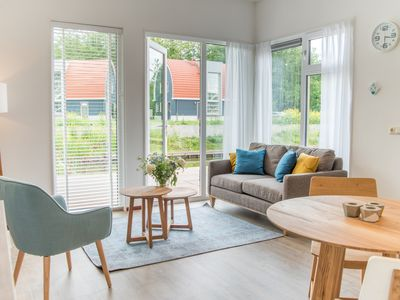 Photo for Luxury Bungalow in the holiday park Landal De Bloemert - 60 bungalows in woodland