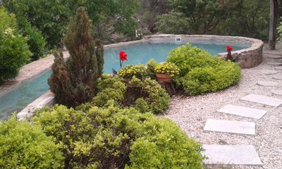 Photo for The Maisonette Cottage garden with pool overlooking a beautiful waterfall.
