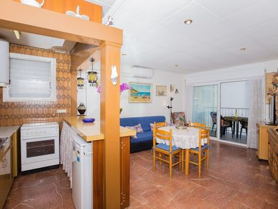Photo for Apartment in the center of Roses, on the seafront and only 20m from the beach.