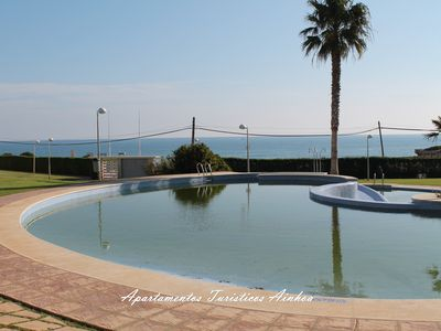 Photo for FIRST LINE DUPLEX WITH PRIVATE SOLARIUM WIFI POOL PARKING JARDIN