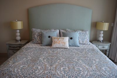 Master Suite-King bed with Novaform gel mattress, balcony access, & flat screen