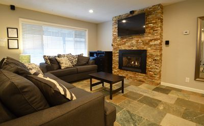 Gas fireplace and entertainment