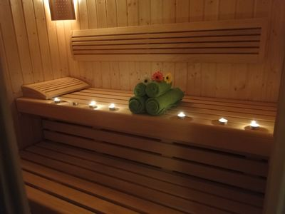 relax in the sauna and wellness area