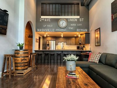 Photo for Walk to Honky Tonks! Downtown Nashville Loft 50-70% off M-W! Bettye A, Sleeps 10 Nashville Luxury Vacation Rentals by MusicCityLoft on VRBO!