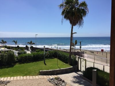 Photo for Right on the beach, top apartment with sea views. Los Papagayos