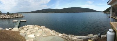 Panoramic view from the deck of Seaweed