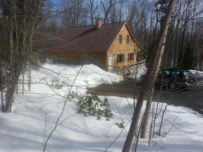 Photo for Well-equipped two-story home in quiet, wooded location near Mt. Snow