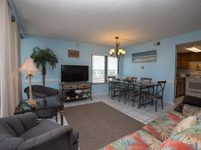 Photo for BEACHSIDE UNIT, GREAT VIEW OF THE BEACH FROM BALCONY, CENTER OF GULF SHORES, SPACIOUS LAYOUT.
