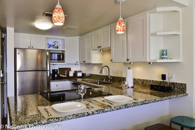 Brightly lit for meal preparation