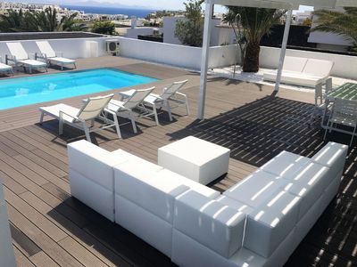 Photo for This 3-bedroom villa for up to 6 guests is located in Playa Blanca and has a private swimming pool,