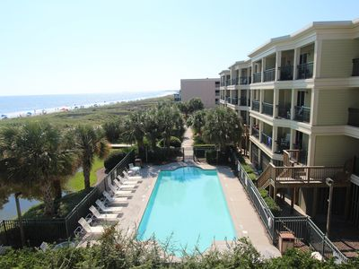 Photo for Oceanfront condo with a private deck and convenient beach and pool access