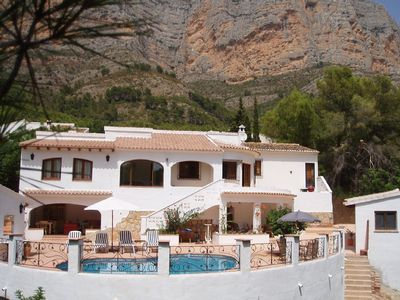 Photo for PRIVATE LUXURY VILLA,HEATED POOL SAUNA,AIRCON,WIFI,BOULES COURT,TABLE TENNIS,