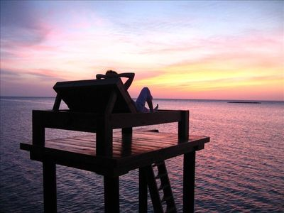 Watch the Sunset - Custom Lounger on our Dock